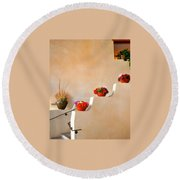 Santa Fe Christmas Round Beach Towel