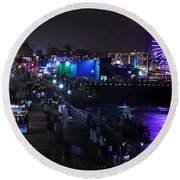 Santa Monica Pier 5 Round Beach Towel