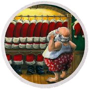 Santa's Closet Round Beach Towel