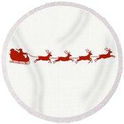 Santa's Sleigh Round Beach Towel