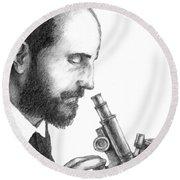 Santiago Ramon Y Cajal, Scientist Round Beach Towel