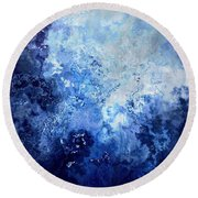 Sapphire Dream - Abstract Art Round Beach Towel