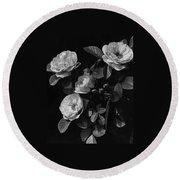Sarah Van Fleet Variety Of Roses Round Beach Towel