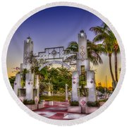 Sarasota Bayfront Round Beach Towel by Marvin Spates