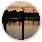 Sarasota Sunset Round Beach Towel by Emmy Marie Vickers