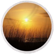 Sarasota Sunset's Round Beach Towel