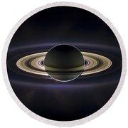 Saturn Round Beach Towel by Adam Romanowicz