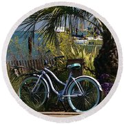 Sausalito Summer Round Beach Towel