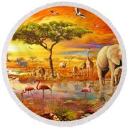 Savanna Pool Round Beach Towel