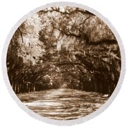 Savannah Sepia - The Old South Round Beach Towel