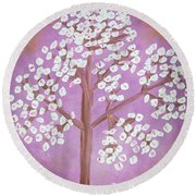 Savanna's Tree Round Beach Towel