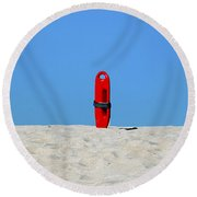 Save Me Round Beach Towel