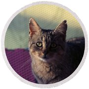 Saw Tooth Round Beach Towel