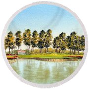 Sawgrass Tpc Golf Course 17th Hole Round Beach Towel