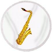 Saxophone Round Beach Towel