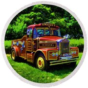 Scammell Highwayman - Color Round Beach Towel