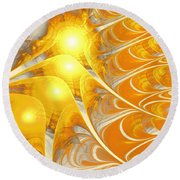 Scattered Sun Round Beach Towel