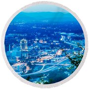 Scenics Around Mill Mountain Roanoke Virginia Usa Round Beach Towel
