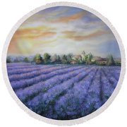 Scented Field Round Beach Towel