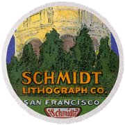 Schmidt Lithograph  Round Beach Towel by Cathy Anderson