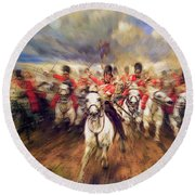 Scotland Forever During The Napoleonic Wars Round Beach Towel