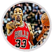 Scottie Pippen Round Beach Towel
