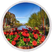 Scottsdale Waterfront Round Beach Towel
