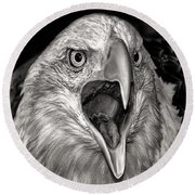 Round Beach Towel featuring the photograph Screamin Eagle by Adam Olsen