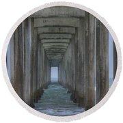 Scripps Pier La Jolla California 3 Round Beach Towel