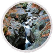 Sculptured Rocks Round Beach Towel