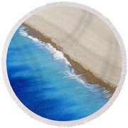 Sea And Sand Round Beach Towel by Wendy Wilton