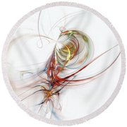 Sea Creature Round Beach Towel