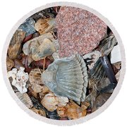 Round Beach Towel featuring the photograph Sea Debris 2 by WB Johnston
