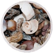 Round Beach Towel featuring the photograph Sea Debris 3 by WB Johnston