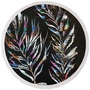Sea Ferns Round Beach Towel