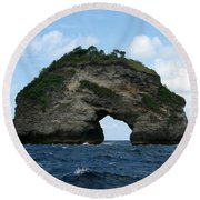 Round Beach Towel featuring the photograph Sea Gate by Sergey Lukashin