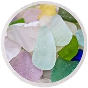Sea Glass Round Beach Towel by Colleen Kammerer