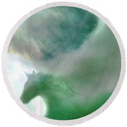 Sea Glass Storm Round Beach Towel