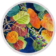 Sea Grapes II Round Beach Towel