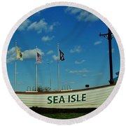 Sea Isle City Round Beach Towel by Ed Sweeney