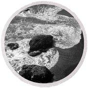 Sea Lion Cove Round Beach Towel