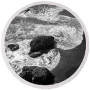 Round Beach Towel featuring the photograph Sea Lion Cove by James B Toy
