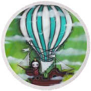 Sea Of Clouds Round Beach Towel