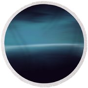 Sea Of Light Round Beach Towel