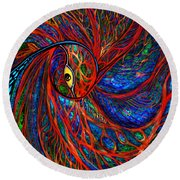 Sea Of Peacock Round Beach Towel