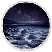 Sea Of Tranquility Round Beach Towel