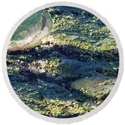 Round Beach Towel featuring the photograph Sea Rocks by Robert Nickologianis