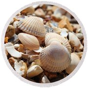 Sea Shells Round Beach Towel