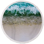 Sea Shore Colors Round Beach Towel