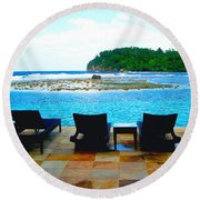 Sea Star Villa Round Beach Towel